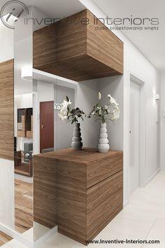 Projekt korytarza Inventive Interiors - zabudowa meblowa w korytarzu