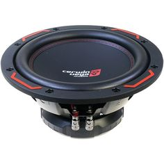 """CERWIN-VEGA MOBILE H4104D HED DVC 4_ Subwoofer (10"""", 1000 Watts) • Proprietary HED basket frame with unimount gasket surround • 1-piece parabolic cone for extreme rigidity • Single stitched rubber sur"""