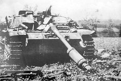 Battle Of The Bulge  Knocked out German Stug III