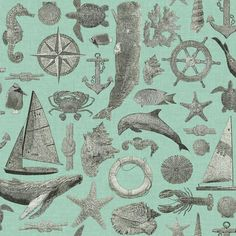 "Nautical Living Maritime 33' x 20.5"" Scenic Wallpaper"