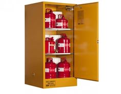 Spacepac Industries provide a wide range of Flammable Liquids Storage Cabinets. a 350 Litre Flammable Liquids Storage Cabinet design for the storage of flammable or combustible liquids.