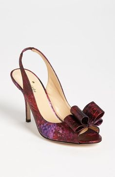 'charm' slingback pump in raspberry | Nordstrom | $328 | Expensive, but I love the texture - would look great with a simpler dress