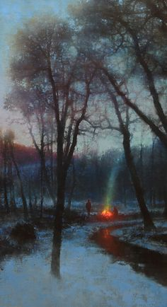 Brent Cotton, The Gathering Dusk, 38 x 20.
