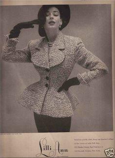 Lilli Ann Fashion Advertisement 1952.
