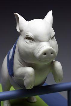 Ceramic Animals, Animal Games, Modern Ceramics, Garden Sculpture, Porcelain, Pottery, Detail, Outdoor Decor, Artwork