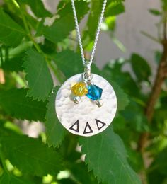 Delta Delta Delta Sorority Necklace, Sterling Silver - Perfect Sorority Jewelry, Greek Jewelry, Big Sis Lil' Sis OFFICIALLY Licensed Product...