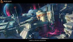 Orbital Arcana harvester , Tyler edlin on ArtStation at https://www.artstation.com/artwork/XVZon