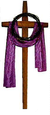 Liturgical decorating for holy week | lentcross.jpg (10912 bytes)