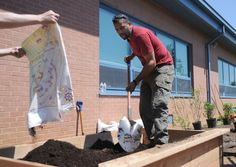 Celebrity landscaper helps build an educational garden at Glassboro elementary school, May 2015 Strawberry Plants, Elementary Schools, Celebrity, Education, Landscape, Gallery, Garden, Primary School, Lawn And Garden