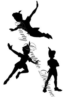 Peter Pan Silhouette by PartyGraphicDesign on Etsy, €3.00