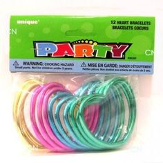Plastic Heart Bracelets - Princess Party Bag Fillers