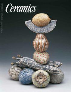 Ceramics Monthly September 2000 Issue Cover, On the Cover: Karen Thuesen Massaro Ceramic Pottery, Ceramic Art, Ceramics Monthly, Contemporary Vases, September, Shapes, Cover, Porcelain, Ceramics