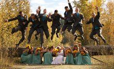 My favourite wedding group shot of us!