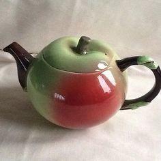 Carlton ware apple tea pot