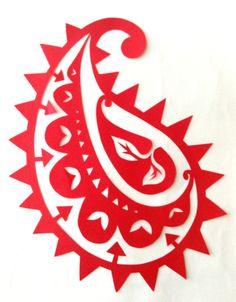 cut paper design Paisley Motif