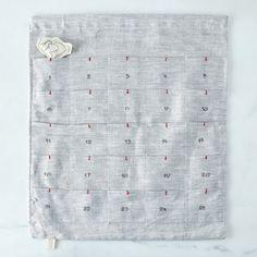 Grey Linen Advent Calendar