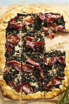 Vegan Treats, Vegan Foods, Prosciutto, Cooking With Kids, Ricotta, Bon Appetit, Vegetable Pizza, Tapas, Delish