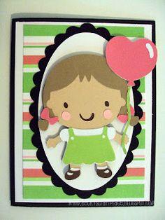 Cricut Girl Card. Baby Steps Cartridge. *