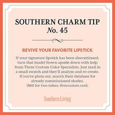 For those that won't give up that favorite tube of lipstick!!!
