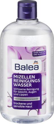 Das Balea Mizellen-Reinigungswasser für trockene und sensible Haut vereint drei Produkte in nur einem Schritt: Reinigung, Make-Up-Entferner und Gesichtswas...