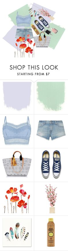 """""""Blue denim"""" by nadyanataliaa on Polyvore featuring Lipsy, rag & bone, Oasis, Converse, Forever 21 and Chanel"""