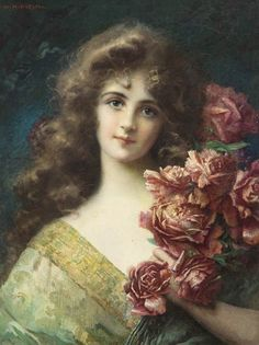 356 Best Women With Flowers Images In 2012 Art Painting