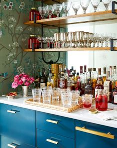 57 Fabulous Home Bar Designs You'll Go Crazy For. Decorating your ideal home bar design. Consider yourself lucky if you've got your own home bar – it's a perfect social gathering spot that's. Pantry Interior, Kitchen Interior, Mid Century Bar, Built In Bar, Built Ins, Home Bar Designs, Wet Bar Designs, Gold Bar Cart, Bar Cart Decor