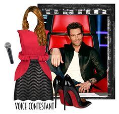 """""""The Voice2"""" by ariannapeach ❤ liked on Polyvore featuring Adam Levine, Gucci, Christian Louboutin, Natasha Zinko, thevoice and YahooView"""