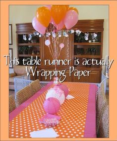 DIY ! You can use your wrapping papers as a table runner