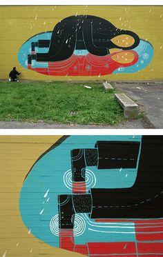 Murals by Agostino Lacurci #streetart #art