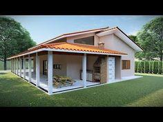 The Best 2019 Interior Design Trends - Interior Design Ideas Barn House Plans, Bungalow House Plans, Small House Plans, House Floor Plans, House Construction Plan, Bungalow Haus Design, Spanish House, Small House Design, Home Design Plans