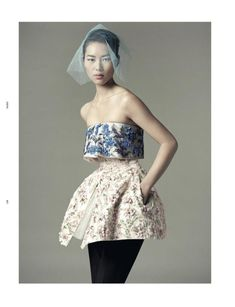 'Homestyle' Dior Haute Couture par Raf Simons - Fall Winter 2012/2013 DAZED & CONFUSED DECEMBER 2012 model: Liu Wen hotographer: Benjamin Alexander Huseby