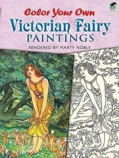 Color Your Own Victorian Fairy Paintings (Dover Art Coloring Book)