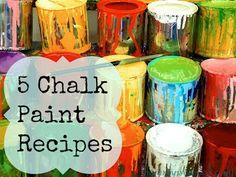 5 Excellent Chalk Paint Recipes !