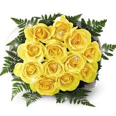 Bunch of Yellow Roses. Add sunshine and smiles send roses bouquet online to your friends and loved ones. Our bunch of Yellow Roses consists of long stem yellow roses and leaves tied in a bunch by our florist. Logon to for more varieties of bunches.