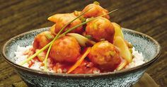 Chicken Balls in Tomato Sauce This recipe can be paired with either rice or pasta for a rich and satisfying meal.