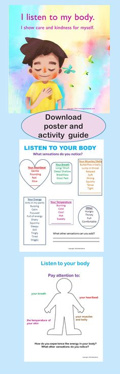 free poster and activity guide to support self-regulation and mindfulness practices. Mindfulness For Kids, Mindfulness Activities, Mindfulness Practice, Practice Yoga, Emotional Regulation, Self Regulation, Counseling Activities, Therapy Activities, Feelings Activities