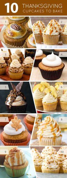 10 Thanksgiving Cupcakes