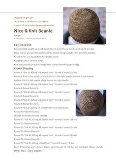 Nice & Knit Beanie: Free Hat Pattern: