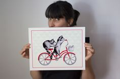 Raccoons on bike print by Amelie Legault on Etsy, Ratons à bicyclette, start at $10.00 Click here to buy:  https://www.etsy.com/ca/listing/193229015/raccoons-on-bike-print-cycling-raccoons?ref=shop_home_feat_2 #raccoon #raton #amelielegault #etsy #etsycanada #bicycle #velo #bike #bicyclette #print #affiche #dessin #drawing #