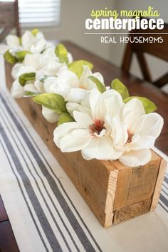 Bring the spring blooms inside. Brighten up your home decor with a lovely and ea. - Decor For Home Spring Home Decor, Unique Home Decor, Cheap Home Decor, Magnolia Centerpiece, Decoration Ikea, Spring Blooms, Do It Yourself Home, My New Room, Home Decor Bedroom