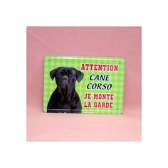 Plaque de race en métal, cane corso.  Dimension: 15cm x 21cm