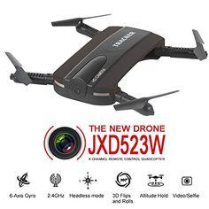 Dobladillo RC Quadcopter Drone, JXD 523W 2.4G 6-Axis Altitud Mantenga WIFI FPV RC Quadcopter Drone Con cámara HD, modo de altura fija,TIME4DEALS - http://www.midronepro.com/producto/dobladillo-rc-quadcopter-drone-jxd-523w-2-4g-6-axis-altitud-mantenga-wifi-fpv-rc-quadcopter-drone-con-camara-hd-modo-de-altura-fijatime4deals/
