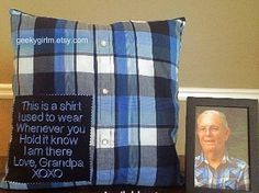 Memory Pillow. Throw Pillow. Bereavement Gift, In Loving Memory, Custom Made Pillow, Grief Gift, decorative pillows, Mothers Day gift