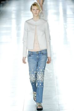 Christopher Kane - decorate your old jeans! Don't kneel on a hard floor in these though ...