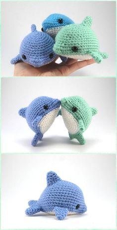 Crochet Amigurumi Pearl the Dolphin Paid Pattern - Amigurumi Crochet Sea Creature Animal Toy Free Patterns