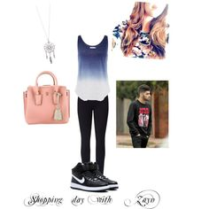 Shopping day with Zayn by kaylee-schroeder on Polyvore featuring polyvore, fashion, style, Velvet by Graham & Spencer, Lyssé Leggings, NIKE and MCM