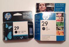 HP 29 Black Printer Ink Cartridges - Set Of 2 NiB New In Box 51629A #HP