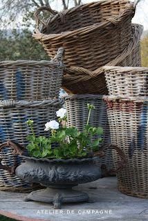 *Vintage grape harvesting baskets