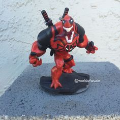Custom hand made and painted Venompool Disney Infinity Figurine! Comes with box as described. For more photos of my work goto my Instagram: @worldofwuzie